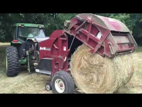 Baling Hay on Our Farm. How To Cut, Rake, and Bale Hay Bales.