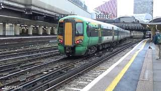 Southeastern Trains Ex Southern Class 377 arriving at London Victoria