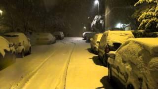 La neve a Roma, 4 febbraio 2012 video
