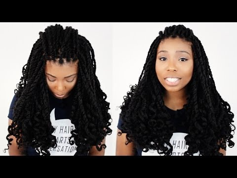 Mrs Rutters Perimeter Crochet Kinky Twists Tutorial Part 4 of 8 - Curling Your Hair