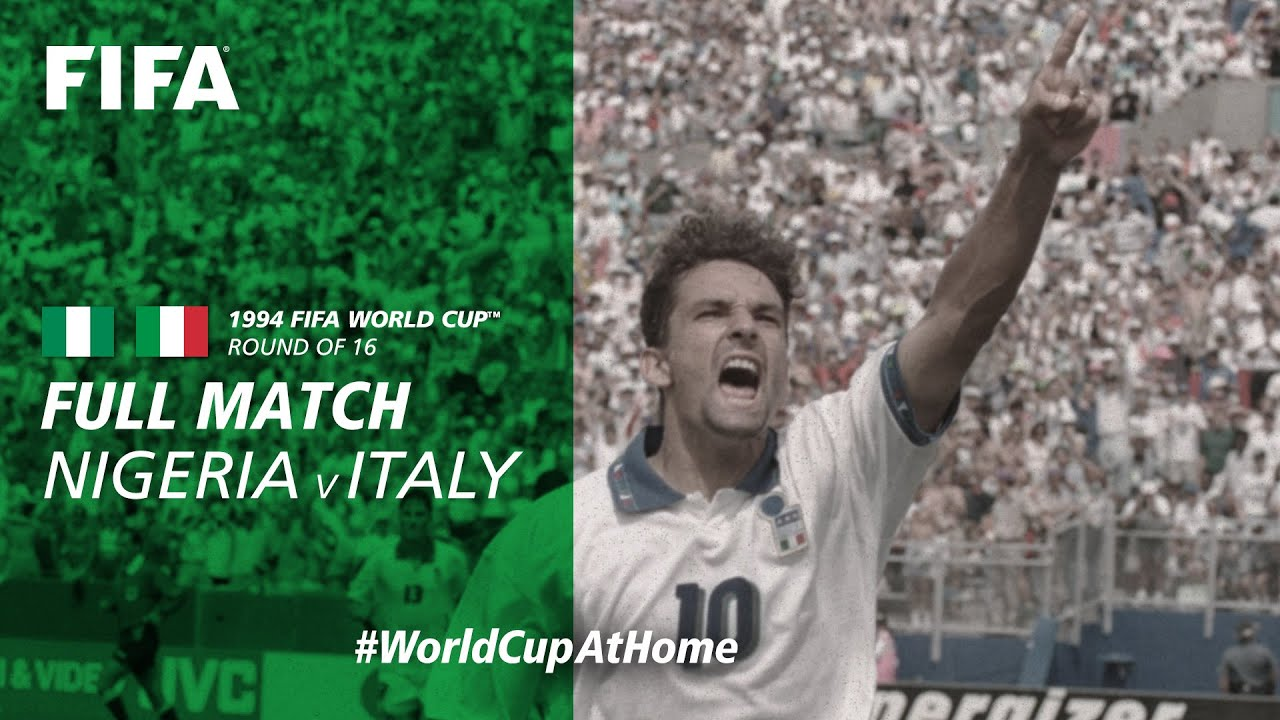 Nigeria v Italy | 1994 FIFA World Cup | Full Match