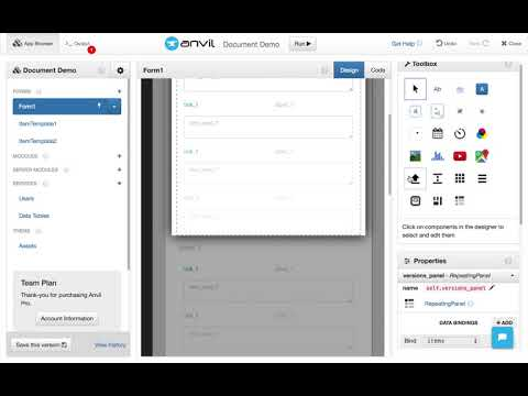 Build a Document Tracker with Anvil