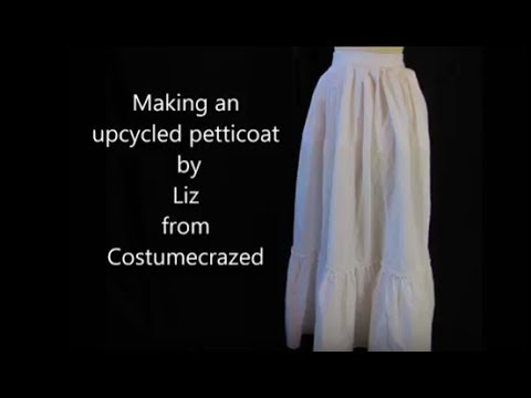 How to make an Apron-style Upcycled Petticoat (from Costumecrazed)