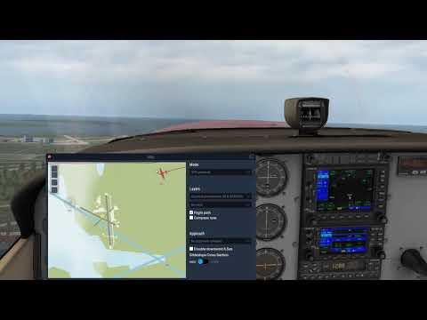 X-Plane Flight Over Reykjavik