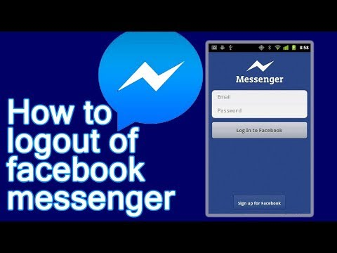 How to Log out From Facebook Messenger in Android Mobile 2018 New