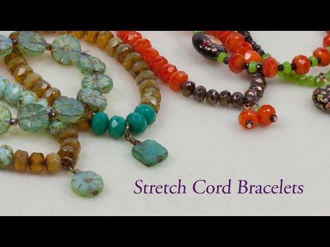Artbeads Mini Tutorial - Stretch Cord Bracelet with Cheri Carlson