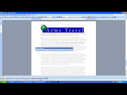 How to add your company logo to your document header in Microsoft Word 2003