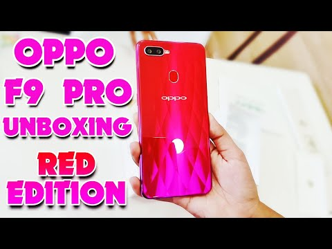 Oppo F9 Pro Unboxing Red Edition
