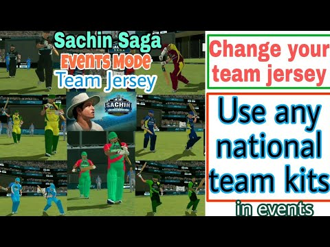 How to Change Team Kits/Jersey in Sachin Saga Cricket Champions Events Mode