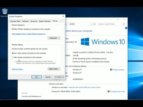 Setup and demonstration of remote desktop connections (Linux to Windows 10)