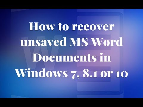 How To Recover Unsaved Word Document on Windows