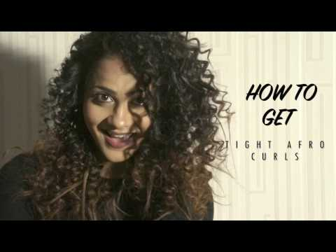 HOW TO GET AFRO CURLS | TIGHT SPIRAL CURLS | BY AARTI JOVEL