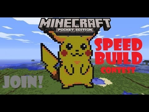 [0.8.1] Join my Minecraft PE Speed Building Contest!