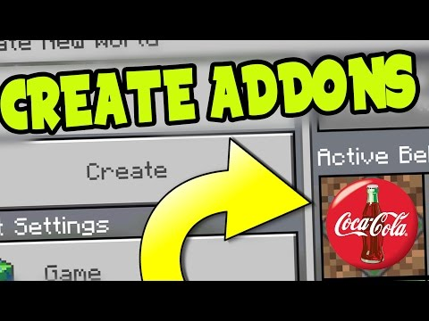 HOW to MAKE a CUSTOM ADDON and BEHAVIOR PACK MCPE! // EDIT a CUSTOM ADDON -Minecraft Pocket Edition