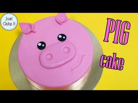 How to make EASY pig cake!