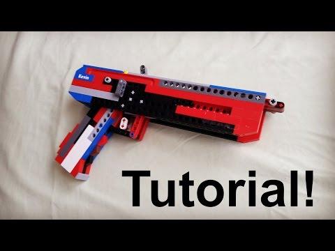 Lego Full-Auto Blowback Pistol Tutorial/Instruction