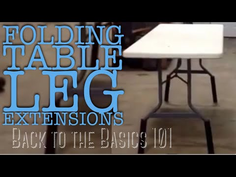 Folding table leg extensions! Awesome!!