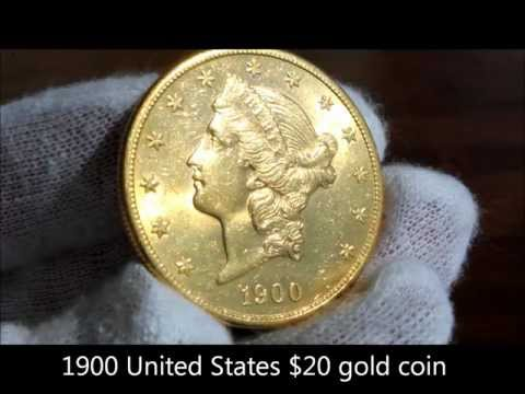 1900 United States gold twenty dollar coin, the double eagle