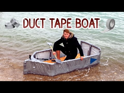 WOW! DUCT TAPE BOAT | Unique And Interesting Boat | DIY