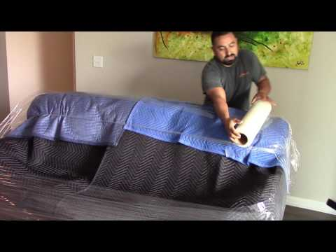 How to wrap a leather sofa like a pro by yourself