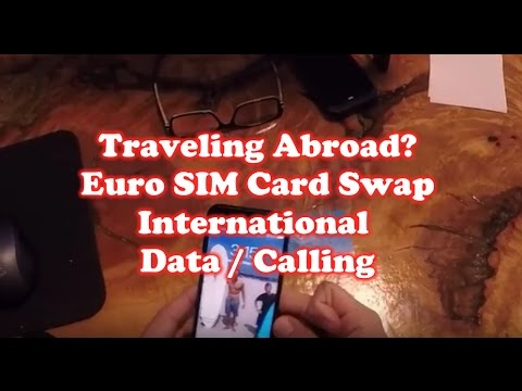 Traveling Abroad - Euro SIM Card Swap on Iphone 7 - International Data / Calling
