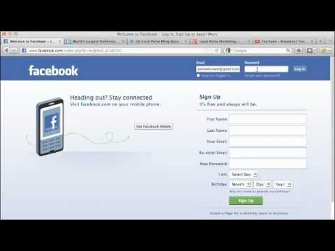 Login To Facebook Business Page Video Tutorial: Login Facebook Page