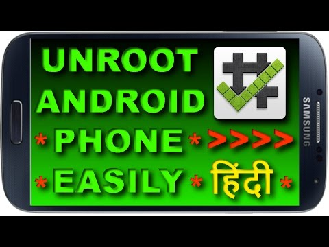 How to Remove Root [UnRoot] Any Android Phone Without A Computer | One Click Method | 2017