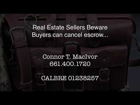 Real Estate Sellers Beware buyers can cancel