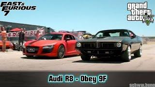 GTA 5 Fast & Furious 7 - Audi R8 (Obey 9F) Car Build #17