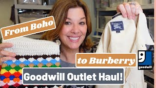 From BOHO to BURBERRY! What I found at the BINS! Goodwill Outlet Thrift Haul For Poshmark \u0026 Ebay