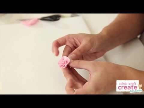 How to make a fondant ribbon rose | Cake Craft Made Easy