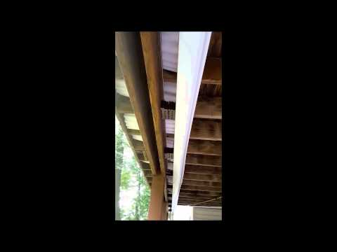 DIY inexpensive ceiling under the deck