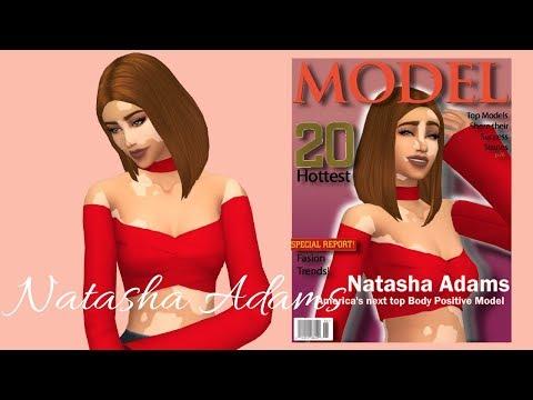 Sims4 CAS Body Confident Madel | Natasha Adams