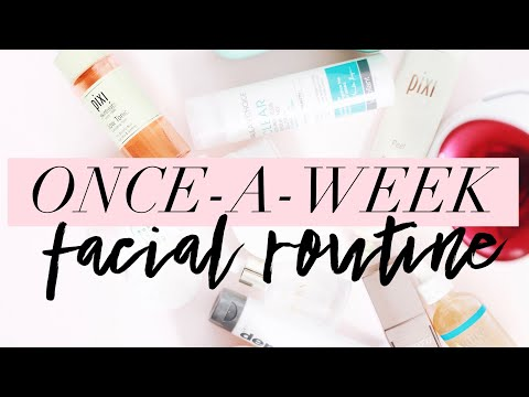 HOW TO DO A FACIAL AT HOME ONCE A WEEK!