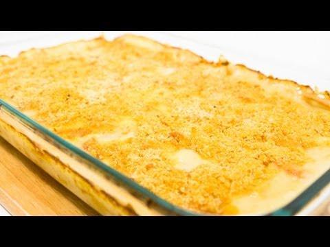 Cheesy Scalloped Potatoes With Bacon And Mushroom Recipe Video