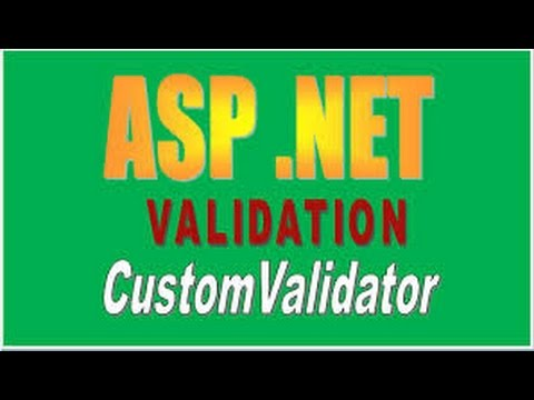 How to Validate Input using Custom Validator in ASP.NET