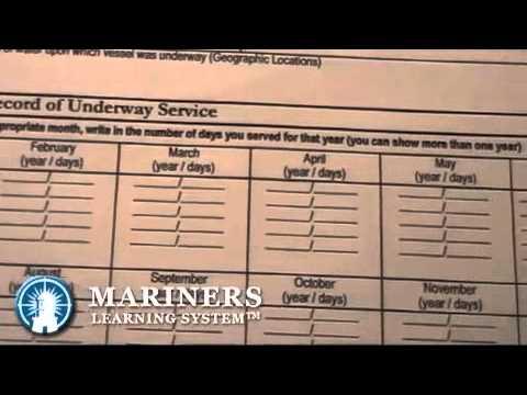 Captain's License -  Sea Service Requirement