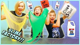 WE TURNED OUR HOUSE INTO A SLIME FACTORY!! Learn HOW to MAKE CLOUD SLIME! / SmellyBellyTV