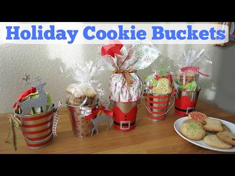 diy holiday cookie buckets christmas gift ideas