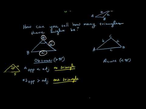 Using Law of Sines Ambiguous Case