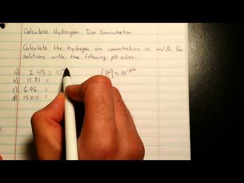 Calculate Hydrogen Ion Concentration - problem 13