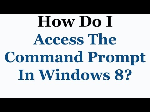 Windows 8 Tutorial - How To Access The Command Prompt