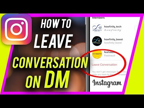 How to leave a group chat on Instagram DM