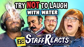 Try to Watch This Without Laughing or Grinning WITH WATER! #5 (ft. FBE STAFF)