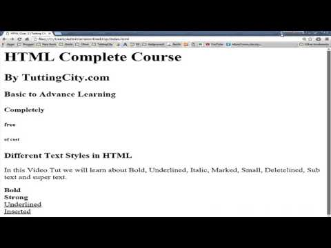 HTML5 Complete Course Class 2 by Usama Rehman
