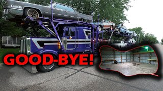 We hired a Insane Custom Car Hauler for our Move (Good-bye Shop!)