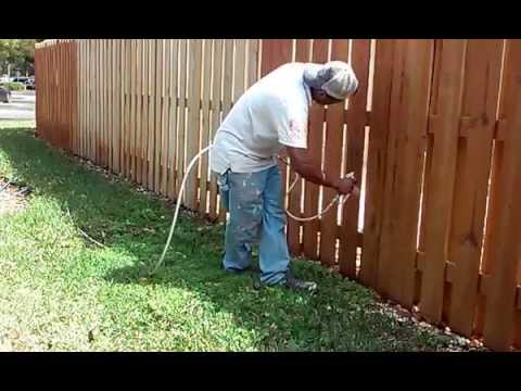 Steps on how to stain a fence with a Sprayer