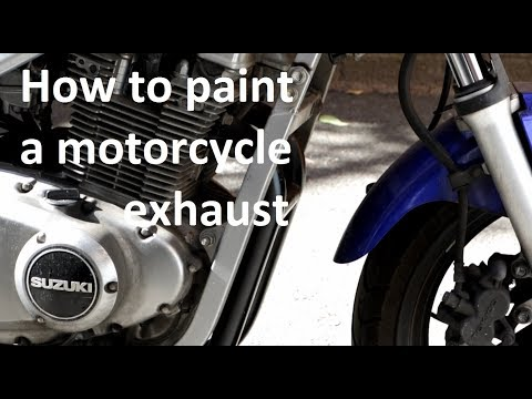 How to restore and paint a motorcycle exhaust