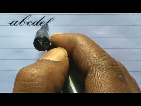 How to write English Alphabet s l Capital and small letters l Calligraphy copperplate