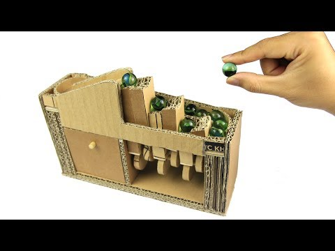 How to make MARBLE CLIMBING MACHINE at home - Just5mins